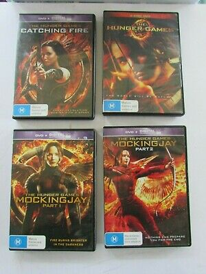The Hunger Games - all 4 movies - Hunger Games, Catching Fire, Mockingjay 1 & 2