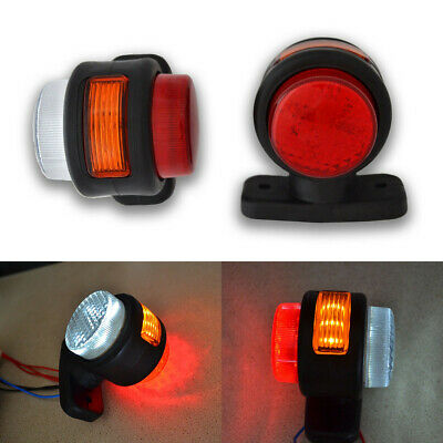 Amber/Red/White LED Side Marker Lights Rubber Lamp Outline Trailer Lorry 12V-24V