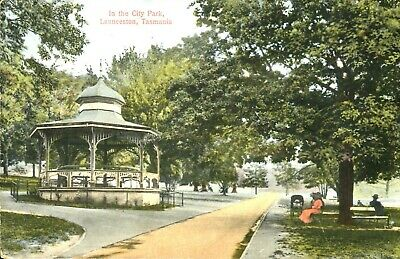 Launceston Tasmania. In The City Park. Early Spurling postcard.
