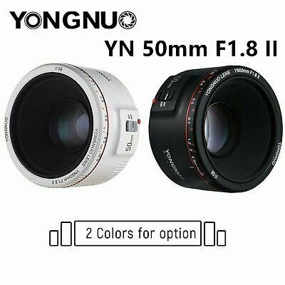 Yongnuo YN 50mm F1.8 II Prime Lens Auto Focus AF/MF for Canon EF - White / Black