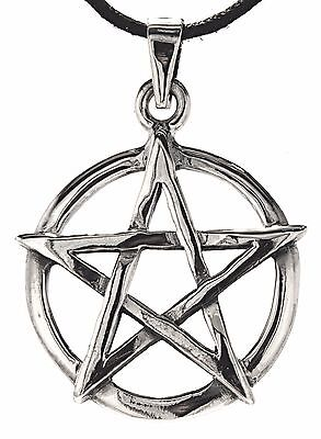 No 251: Pentagram 925 Silver Pendant Pentagram Guardian White Magic Magic Wicca