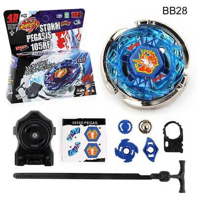 Fight Beyblade 4D Fusion Metal Rapidity Master Top+Launcher Grip Toy Kit For Kid