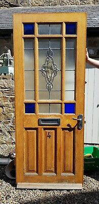Leaded Stained Glass Wooden Front Door