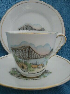 vintage ROYAL STAFFORD bone china TEA TRIO Story Bridge Brisbane
