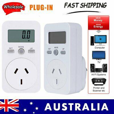 Plug-In 240V Power Meter Monitor Energy Consumption Watt Electricity Use Tester