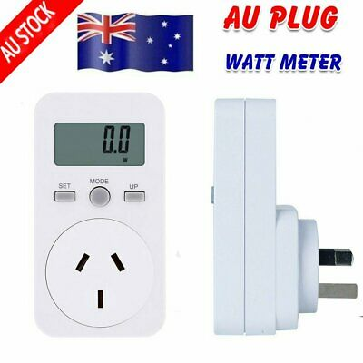 AU Plug-In Energy Meter Watt 240V Electricity Monitor Analyzer Power LCD Monitor
