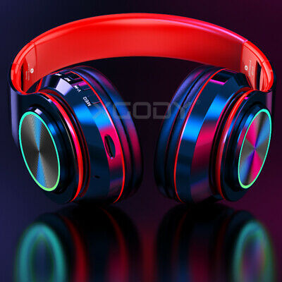 Wireless Headphones With Mic Stereo Bluetooth Headset Noise Cancelling Over Ear