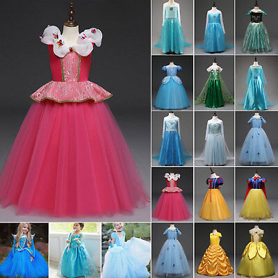 Girl's Princess Snow White Cinderella Cartoon Cosplay Costume Party Fancy Dress