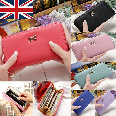 Women Lady Leather Wallet Long Zip Purse Card Phone Holder Case Clutch Handbag