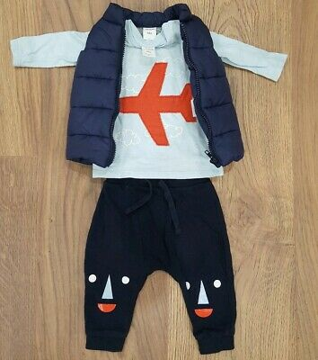 SEED Baby Boys Puffer Vest Top Pants Mixed Lot Winter 3-6 mths