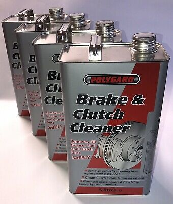 Brake and Clutch Cleaner By POLYGARD 4 X 5L. Eliminates Brake Squeal (20 Litre)