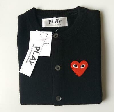 🇦🇺 AU STOCK Comme des Garcons CDG Play Red Heart Cardigan Knit Sweater top