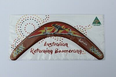"Carded Australian Made 12"" Decorated Throwing Boomerang - Sunset Design"