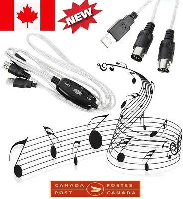 Brand MIDI to USB Cable Adapter Musical Instruments Cable model FOR PC  CA SELL