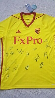 Watford FC shirt hand signed by team