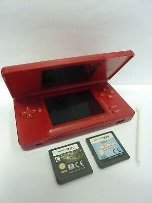 RED NINTENDO DS LITE GAMES CONSOLE BUNDLE SEE OUR ITEMS & 99p AUCTIONS FOR MORE