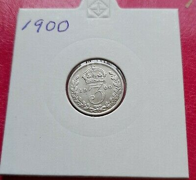 1900 Victoria Old Head silver threepence.