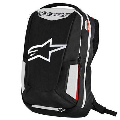 Alpinestars City Hunter Motorcycle Backpack Rucksack Black White Red