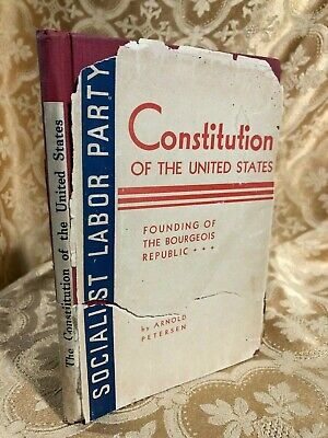 Constitution of the United States Founding of the Bourgeois Republic SIGNED Book