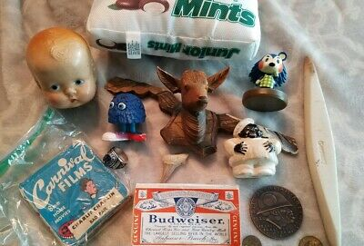 Junk Drawer lot Cuckoo Clock German Estate Sale Coins Tokens Class Ring silver
