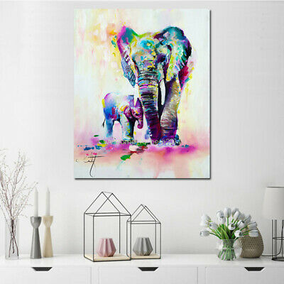 Color Animal Figure Abstract Home Wall Art Oil Painting Canvas Painted Poster G