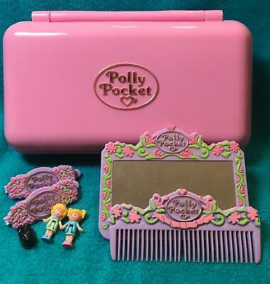 Polly Pocket Pretty Hair Playset COMPLETE dolls 1990 Bluebird vintage