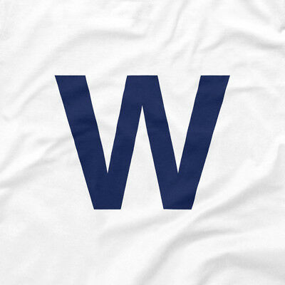 Chicago Cubs Shirt FLY THE W Wrigley Win Flag White XS S M L XL 2XL 3XL 4XL 5XL