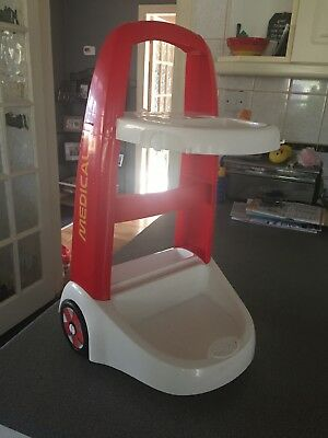 Smoby Kids Pretend Doctors Trolley Cart Role Play Nurses Medical Pull Along