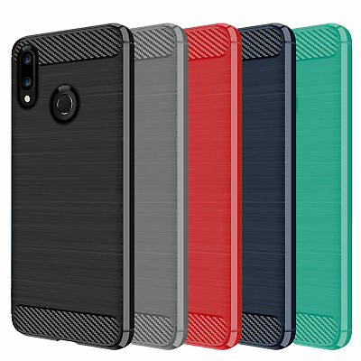 DD For Huawei Honor 10 Lite Case Carbon Fibre TPU Rugged Gel Silicone Cover