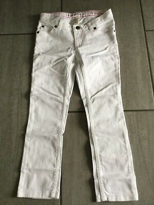 Lands' End Girls White Pencil Leg Jeans Age 4-5 Years. New.
