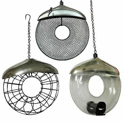 Deluxe Heavy Duty Steel Bird Donut Suet Fat Ball Seed And Nut Feeder Hanging