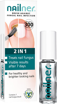 NAILNER Brush - 2 in 1  Nail Fungus Anti Fungal Nail Infection 5ml Treatment NEW