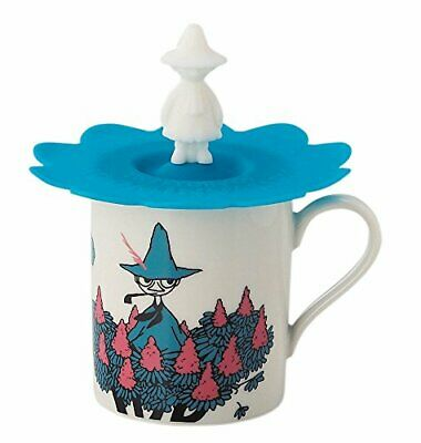 MOOMIN Valley Mug Cup with Cover Snufkin Blue 320ml MM494-11P Made in Japan