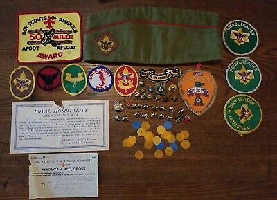 Lot of Vintage Boy Scouts of America Hat Pins Badges Patches & Misc