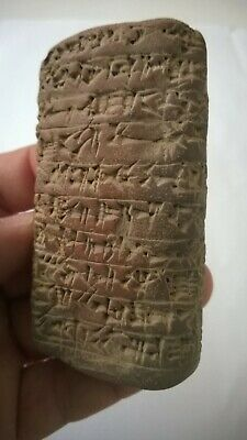 Very Rare Ancient Near Eastern Clay Tablet With Early Form Of Writing.