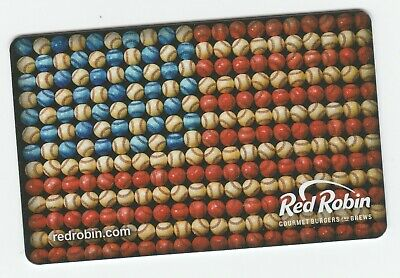 Red Robin no value collectible gift card mint #11 Flag B