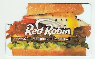 Red Robin no value collectible gift card mint #06 Gourment Burgers and Brews