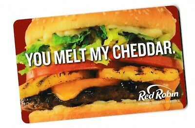 Red Robin no value collectible gift card mint #04 You melt my Cheddar