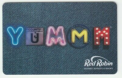 Red Robin no value collectible gift card mint #07 Yummm County