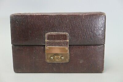 Stunning Antique Victorian Red Leather Holds Multiple Rings/Jewellery Box