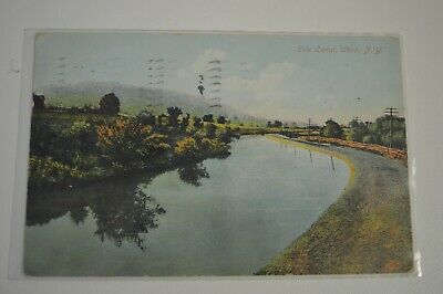 1909 Color Postcard - Erie Canal Utica, N.Y.