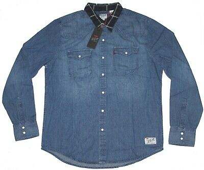 Levi's X Justin Timberlake Barstow Western Shirt Long Sleeve Denim Size L NWT