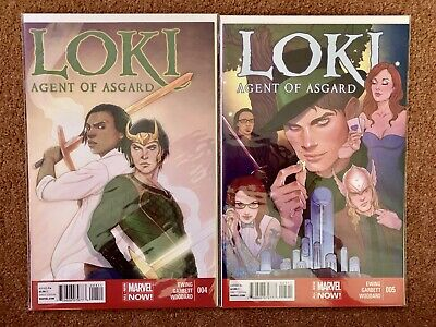 Loki Agent Of Asgard #4 & #5 Marvel 2015 Now Thor Marvel Comics