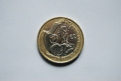 2002 Commonwealth Games £2.00 Two Pound Coin Wales/Welsh Flag RARE Circulated