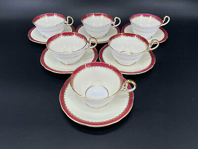 Aynsley Guildhall Tea Trio set for 4 Cake Plate Bone China England 13 pieces