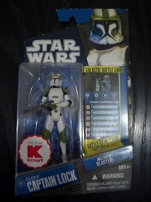 Star Wars The Clone Wars Ultra Rare Usa Kmart Exclusive Clone Captain Lock. Moc