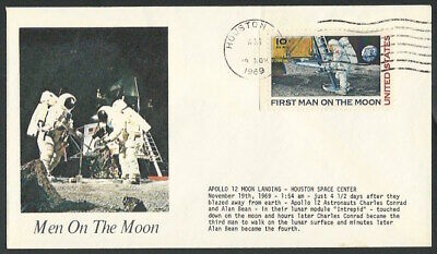 1969 Apollo 11 12 First Man Men On The Moon Landing 50th Anniversary Stamp Cover