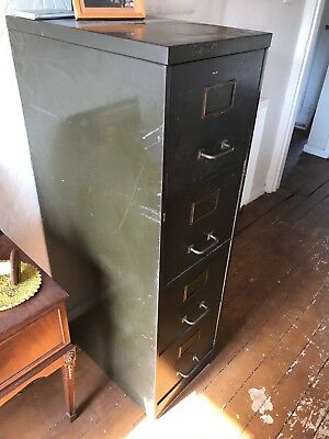 Vintage 1950's Filing Cabinet Four Drawers