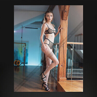 GJ0884A | 8x10 Photo (Pretty brunette model in lingerie and high heels)