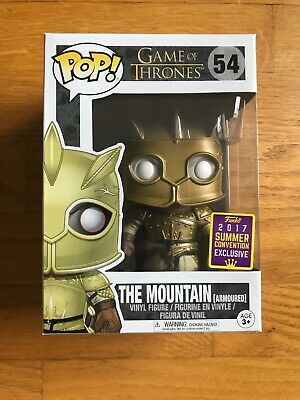 Funko Pop! Game of Thrones 54 The Mountain Armoured 2017 SDCC w/ Protector